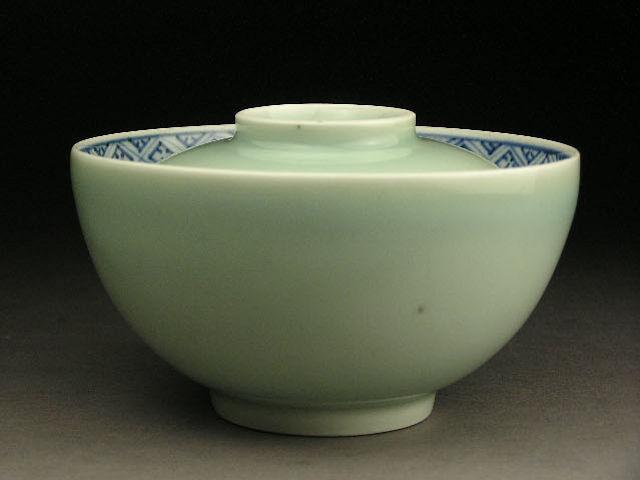 華 祥 古伊万里 青磁大蓋茶碗