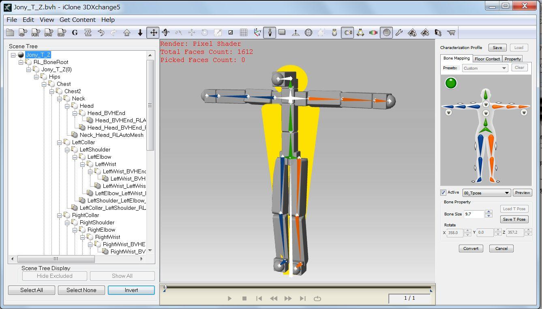 MMD Model to iClone by 3DXchange5: Hirospot
