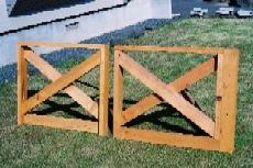 システムウッドデッキのクロスフェンス