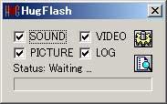 SWFファイルから素材を取り出す -HugFlash-
