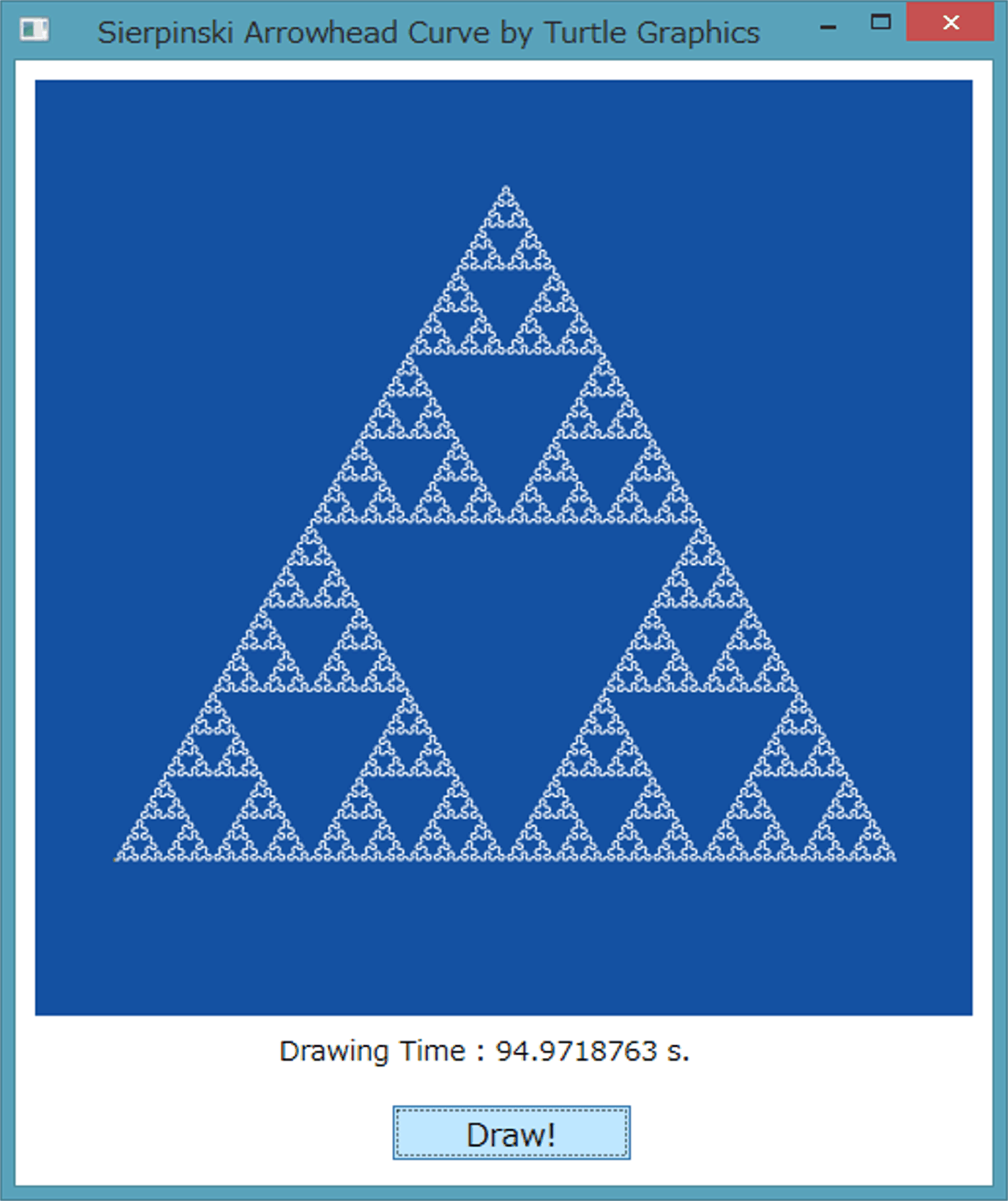 Sierpinski Arrowhead Curve (WPF with C#)